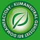 Logo - Klimaneutral gehostet bei DomainFACTORY